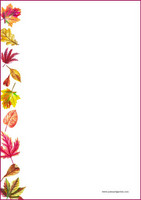 Autumn leaves - writing papers (A4, 10s)