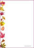 Syksyn lehdet - kirjepaperit (A4, 10s)