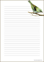 Bird - writing papers (A4, 10s) #1