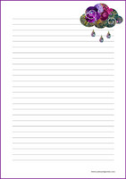 Rain - writing papers (A4, 10s) #2