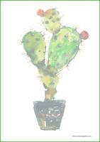 Kaktus - kirjepaperit (A5, 10s) #1