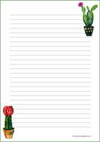 Kaktus - kirjepaperit (A4, 10s) #2