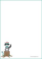 Pesukarhu - kirjepaperit (A5, 10s) #1