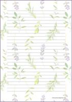 Kasvit - kirjepaperit (A5, 10s) #1