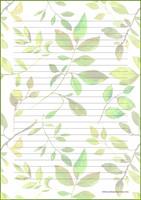 Kasvit - kirjepaperit (A5, 10s) #2