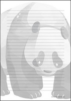 Panda - writing papers (A4, 10s) #1