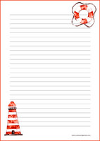 Lighthouse - writing papers (A5, 10s) #1