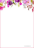 Kukat - kirjepaperit (A5, 10s) #1