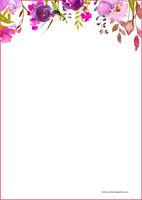 Kukat - kirjepaperit (A4, 10s) #1