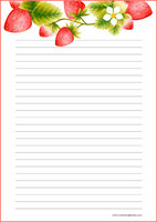 Strawberry - writing papers (A4, 10s) #2