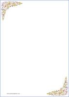 Kukat - kirjepaperit (A4, 10s) #4