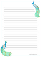 Peacock - writing papers (A5, 10s) #2