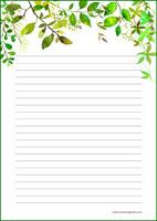 Kasvit - kirjepaperit (A5, 10s) #4