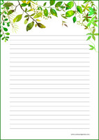 Kasvit - kirjepaperit (A4, 10s) #4