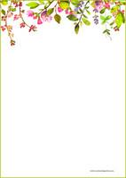Kukat - kirjepaperit (A5, 10s) #5