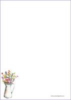 Kukkamaljakko - kirjepaperit (A5, 10s) #1