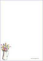 Kukkamaljakko - kirjepaperit (A4, 10s) #1