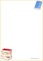 Kirjat -kirjepaperit (A4, 10s) #1
