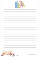 Kirjat -kirjepaperit (A4, 10s) #2