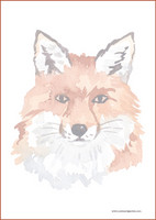 Fox - writing papers (A5, 10s) #2