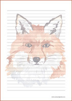 Fox - writing papers (A4, 10s) #2