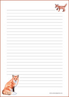 Fox - writing papers (A4, 10s) #3