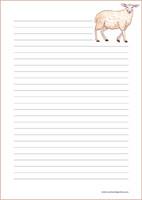 Lammas - kirjepaperit (A4, 10s) #2