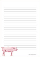 Pig - writing papers (A5, 10s) #1