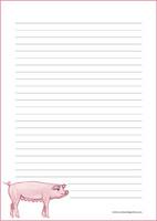Possu - kirjepaperit (A4, 10s) #1