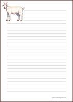 Vuohi - kirjepaperit (A5, 10s) #1