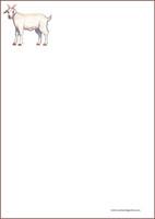 Vuohi - kirjepaperit (A4, 10s) #1