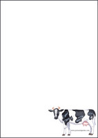 Lehmä - kirjepaperit (A5, 10s) #1