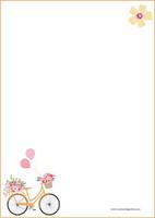 Polkupyörä -kirjepaperit (A4, 10s) #1