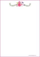 Kukat - kirjepaperit (A4, 10s) #6