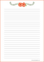 Kukat - kirjepaperit (A4, 10s) #7