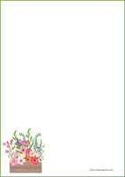 Kukat - kirjepaperit (A4, 10s) #8