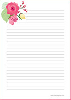 Flowers - writing papers (A4, 10s) #10