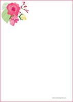 Kukat - kirjepaperit (A4, 10s) #10