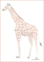 Giraffe - writing papers (A5, 10s) #1