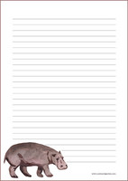 Hippo - writing papers (A5, 10s) #1