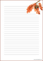 Autumn branch - writing papers (A4, 10s) #2
