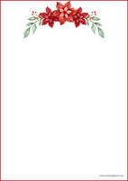 Christmas flower - writing papers (A4, 10s) #1
