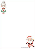 Santa couple - writing papers (A5, 10s) #1