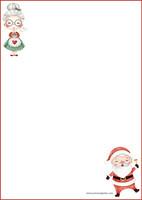 Joulumuori ja joulupukki - kirjepaperit (A4, 10s) #1