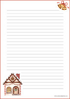 Christmas house - writing papers (A5, 10s) #1