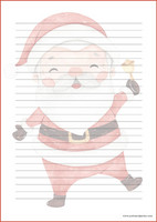 Santa Claus - writing papers (A4, 10s) #1