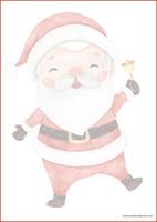 Joulupukki - kirjepaperit (A4, 10s) #1