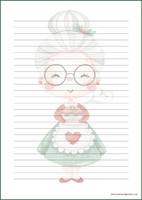 Joulumuori - kirjepaperit (A4, 10s) #1
