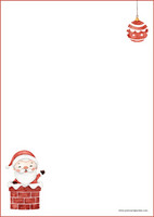 Santa Claus - writing papers (A4, 10s) #2