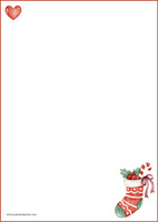 Christmas sock - writing papers (A4, 10s) #1